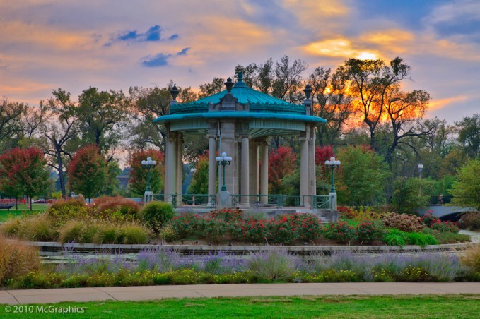 Gazebo at Forest Park by the Muny
