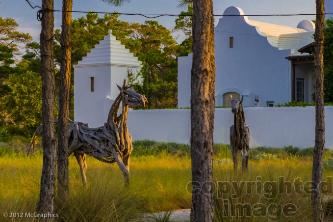 Alys Beach | Horse Statue | Stock Photo