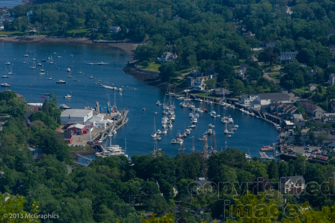 The City of Camden, Maine from Camdon Hills State Park.